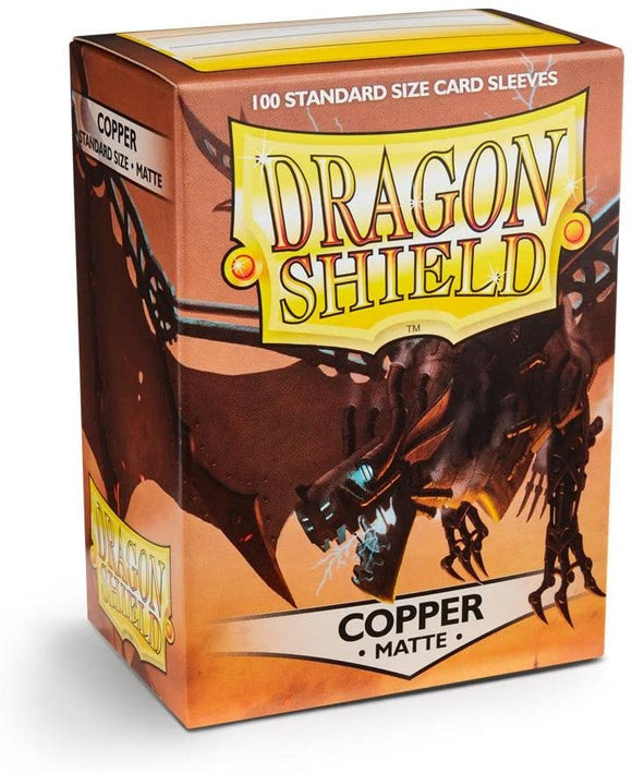 Dragon Shield Copper Matte 100 Protective Sleeves