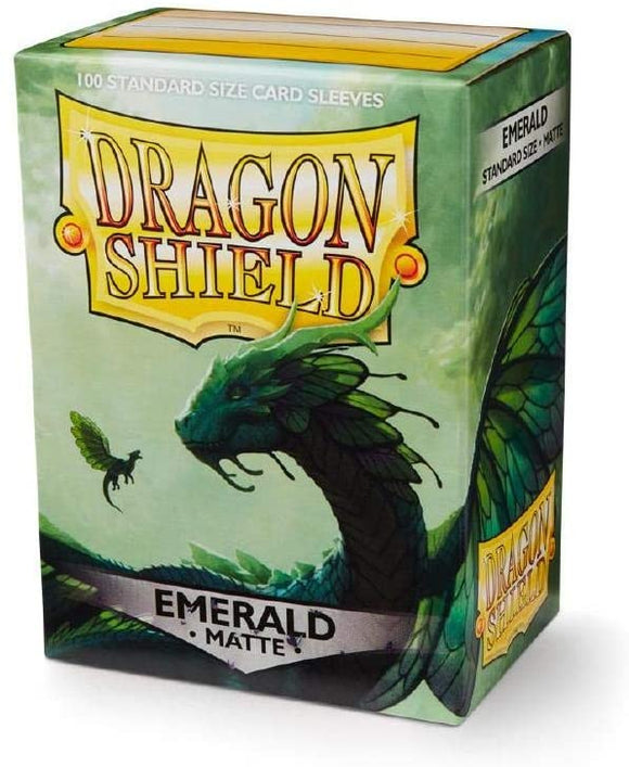 Dragon Shield Emerald Matte 100 Protective Sleeves