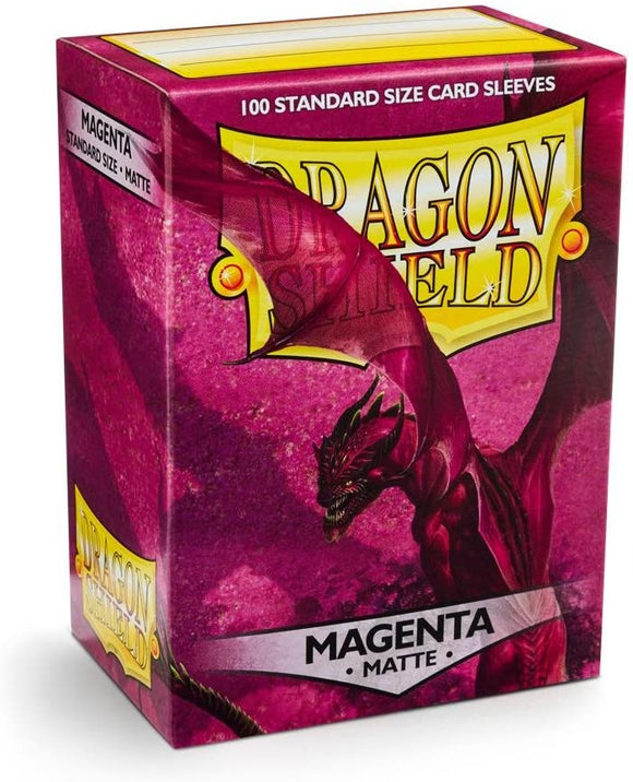 Dragon Shield Magenta Matte 100 Protective Sleeves