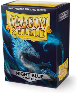 Dragon Shield Night Blue Matte 100 Protective Sleeves