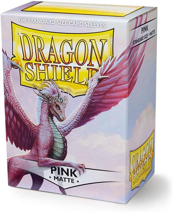 Dragon Shield Pink Matte 100 Protective Sleeves