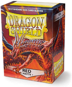 Dragon Shield Red Matte 100 Protective Sleeves