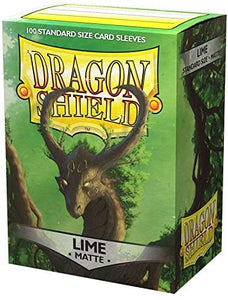 Dragon Shield Matte Lime Green Standard Size 100 ct Card Sleeves