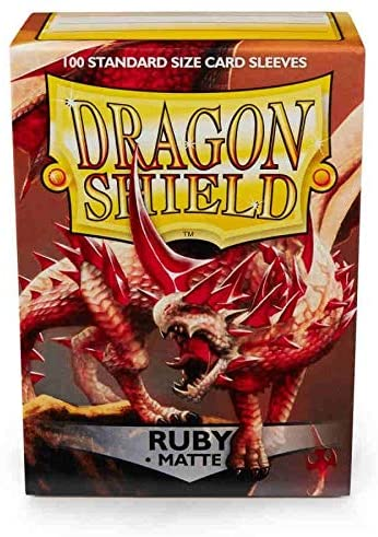 Dragon Shield Ruby Matte 100 Protective Sleeves