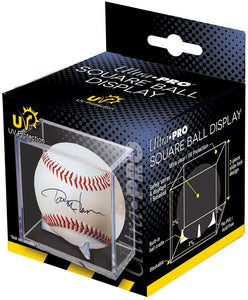 Ultra Pro Square Baseball Display Holder w/Stand UV Protection