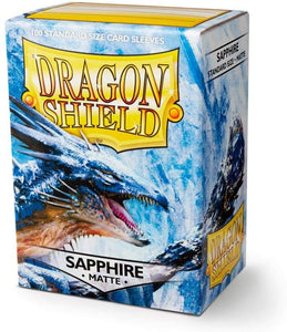 Dragon Shield Sapphire Matte 100 Protective Sleeves