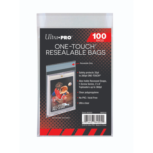 Ultra Pro One Touch Resealable Bags -100 count