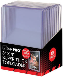 "Ultra Pro 3"" x 4"" Clear 180pt Top Loaders (10 Per Pack)"