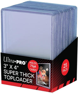 "Ultra Pro 3"" x 4"" Clear 75pt Top Loaders (25 Per Pack)"