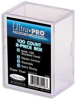 Ultra Pro 2-Piece 100 Count Clear Card Storage Box