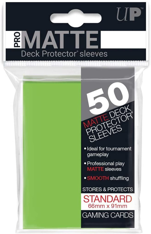 Ultra Pro Matte Lime Green Standard Deck Sleeves 50 Per Pack