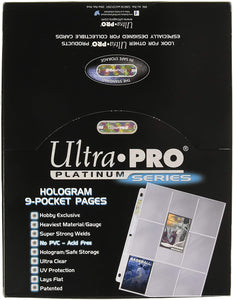 Ultra Pro Platinum Series Hologram 9-Pocket Pages (100 Pages)