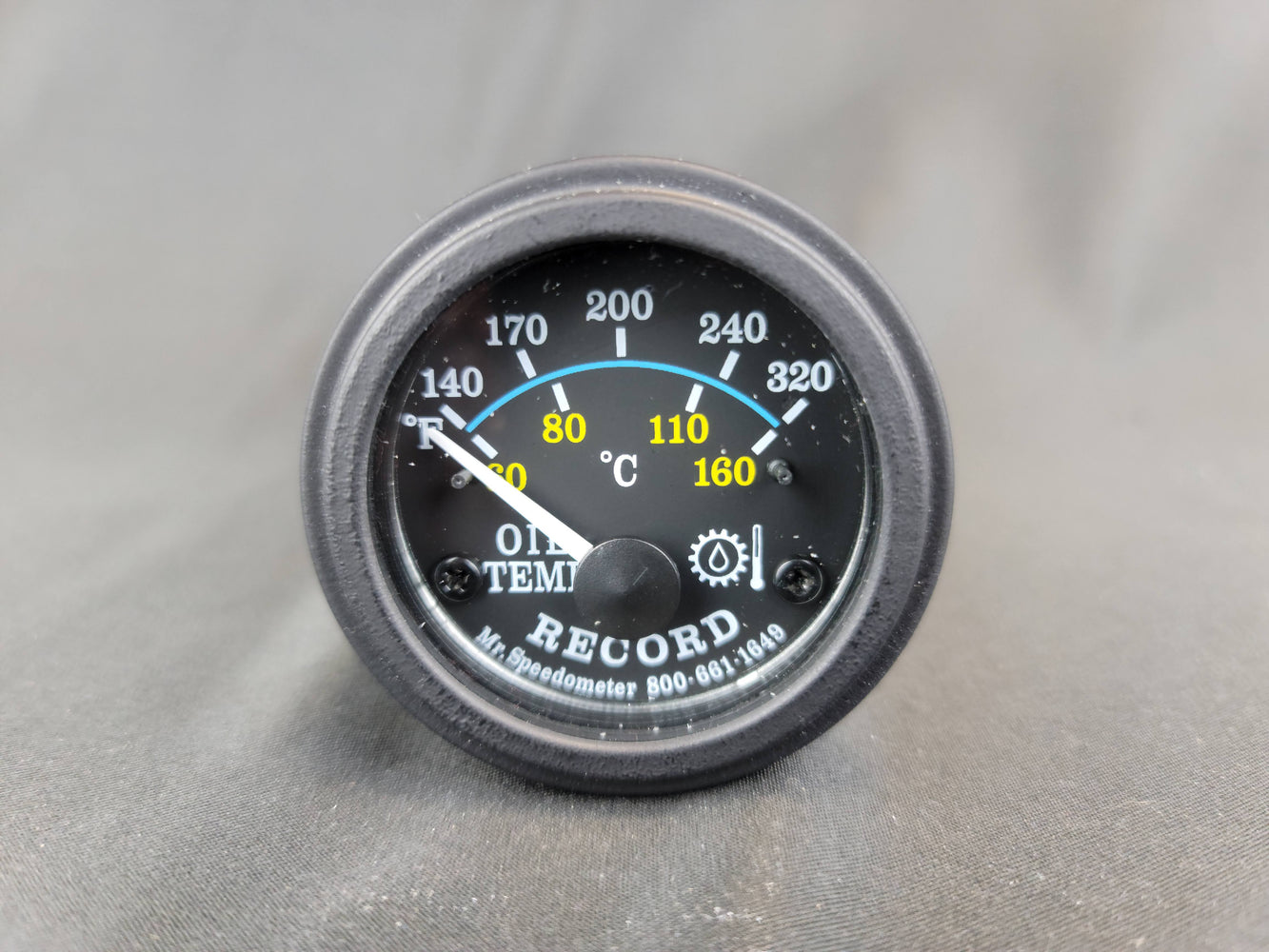 RECORD 2 Inch Transmission Oil Temp Gauge 140-320f - Electric - HG107
