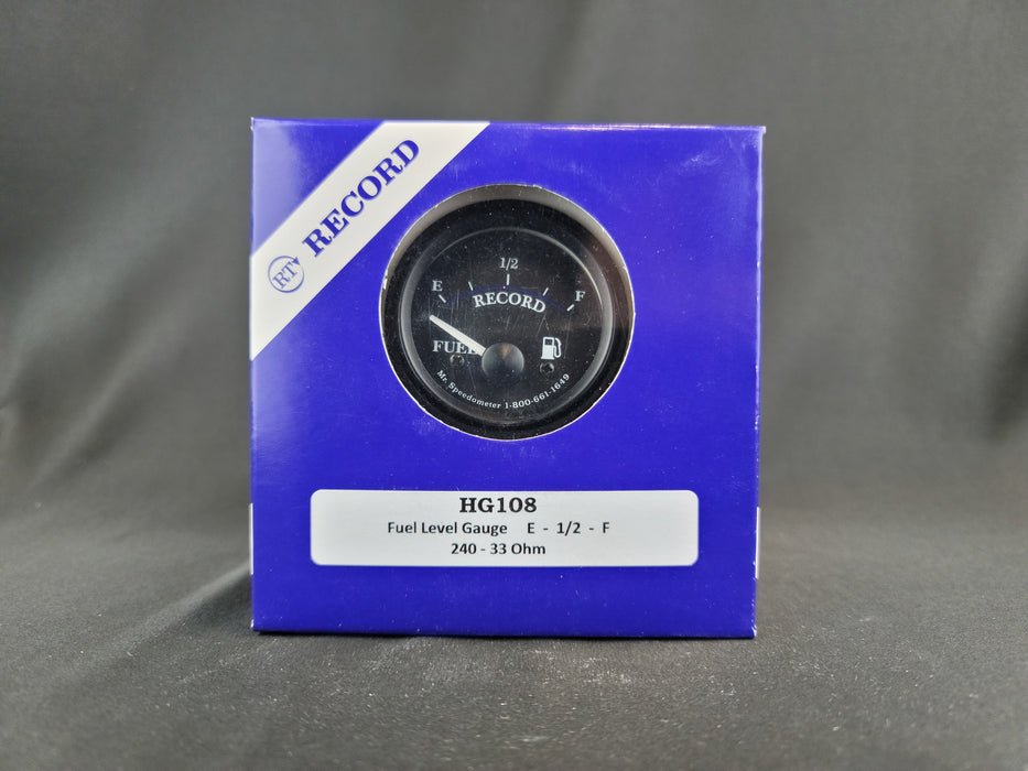 RECORD 2 Inch Fuel Gauge 240-33ohms - HG108