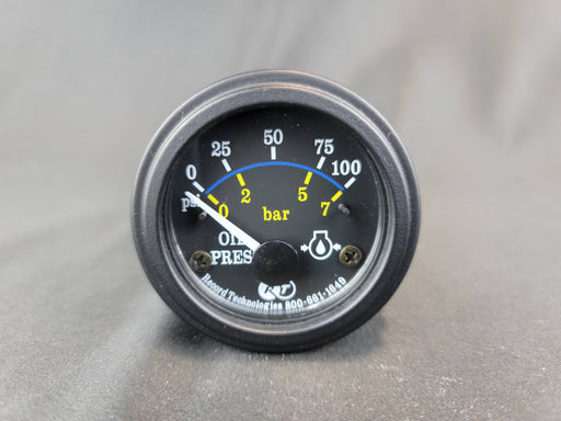 RECORD 2 Inch Oil Pressure Gauge  0-100 psi - Electric - HG109