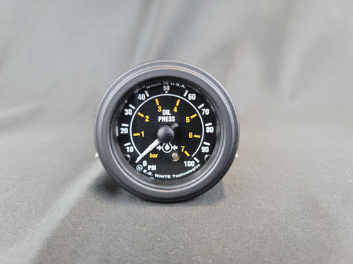 RECORD 2 Inch Mechanical Oil Pressure Gauge 0-100psi - HG114