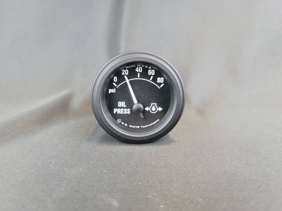 RECORD 2 Inch Oil Pressure Gauge  0-80psi - Electric - HG147B