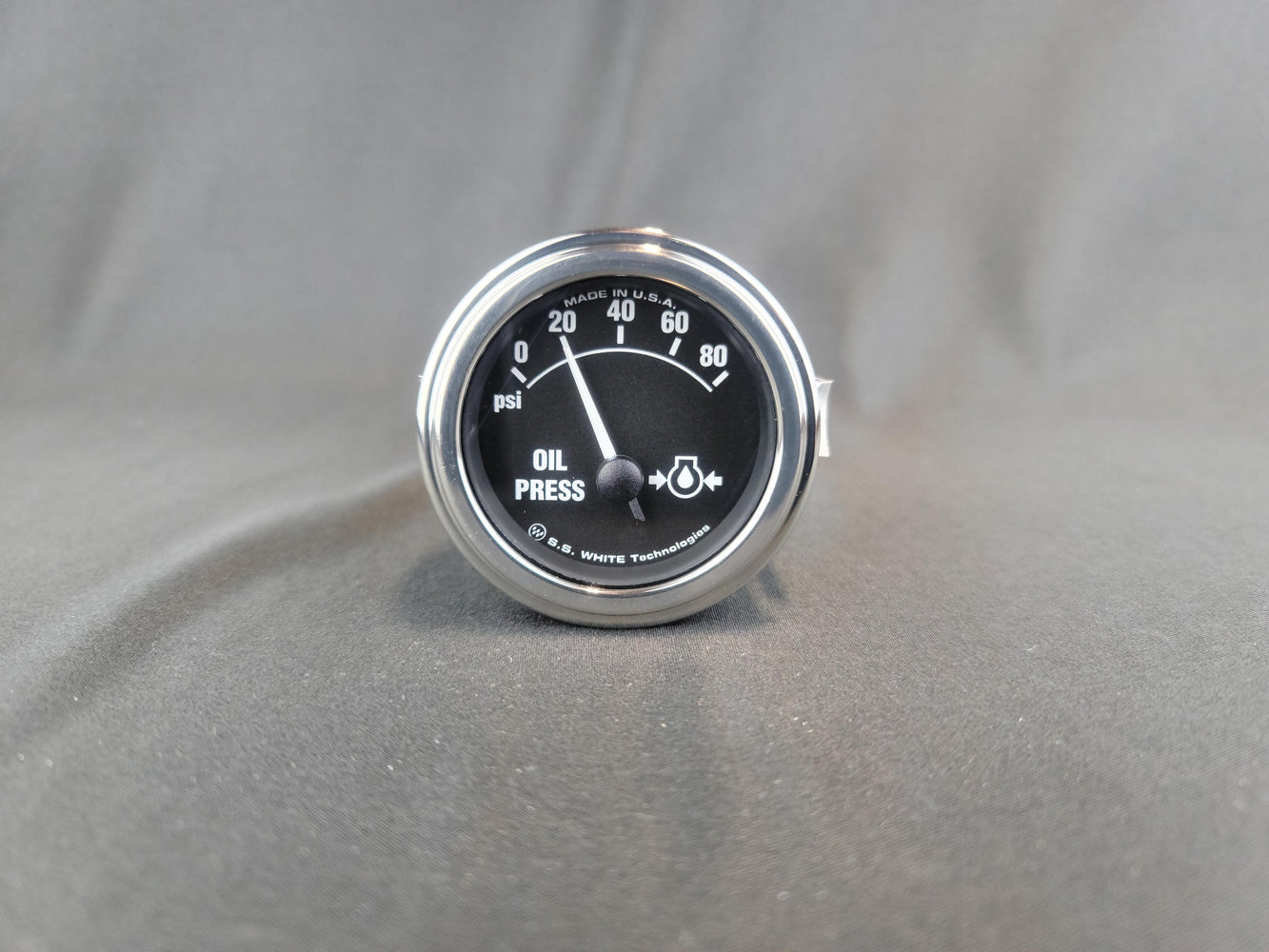 RECORD 2 Inch Oil Pressure Gauge 0-80PSI - Electric - HG147