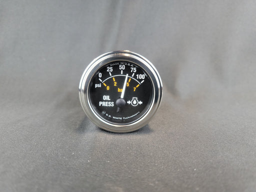 RECORD 2 Inch Oil Pressure Gauge 0-100psi - Electric - HG148