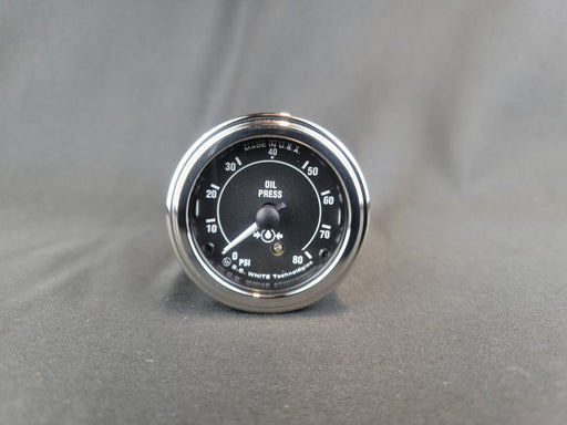 RECORD 2 Inch Oil Pressure Gauge  0-80psi - Mechanical - HG159