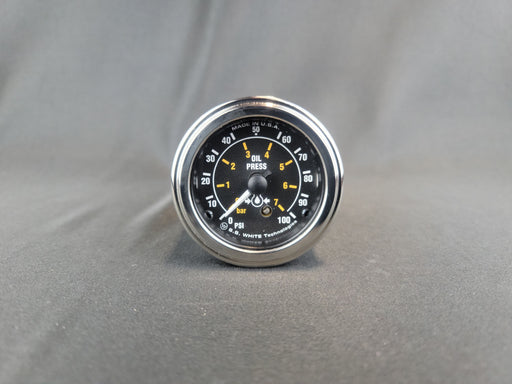 RECORD 2 Inch Oil Pressure Gauge 0-100psi - Mechanical - HG160
