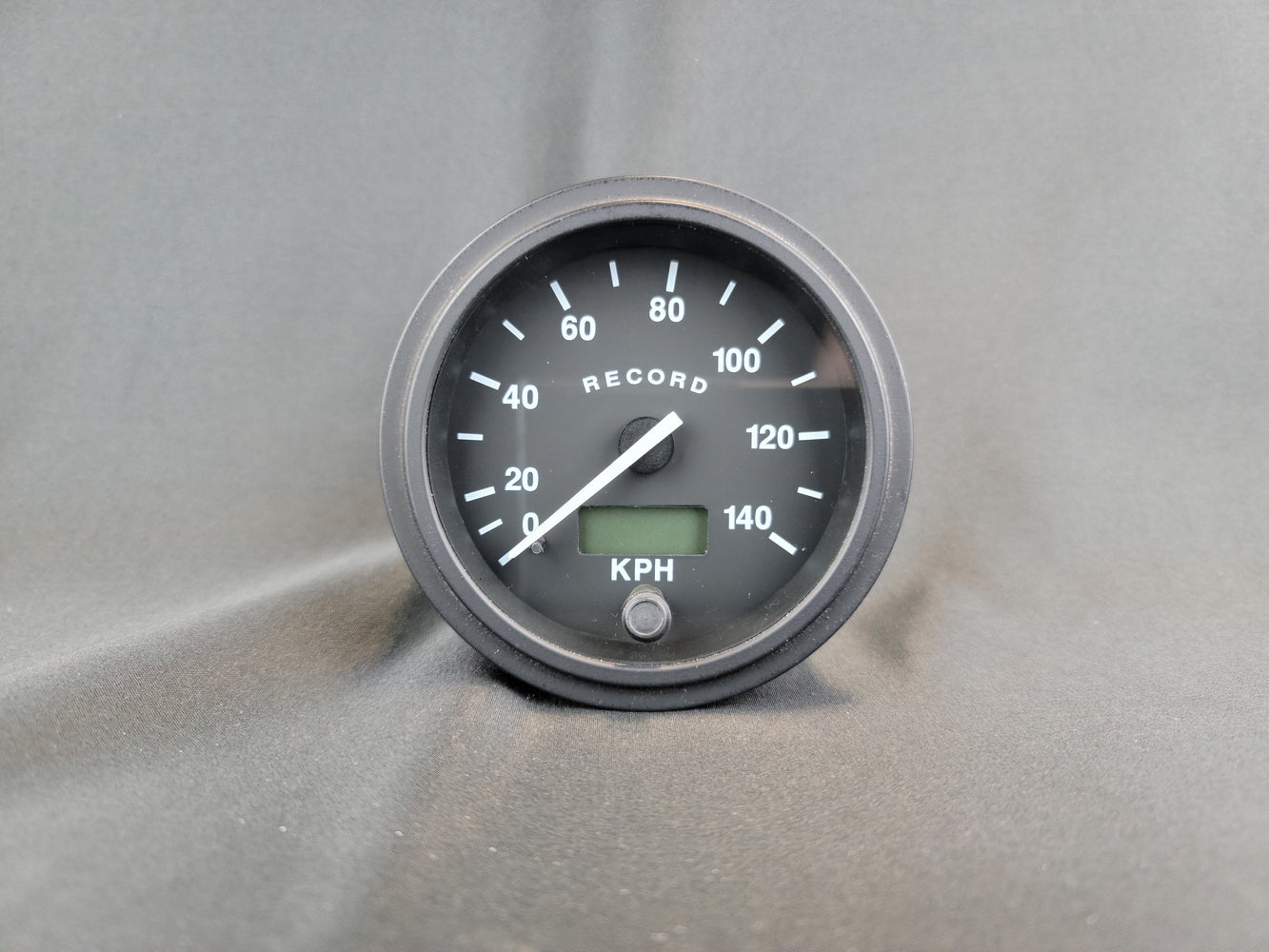 RECORD 3 3/8 Inch Electric Speedometer with Odometer - KPH - R17412/24B
