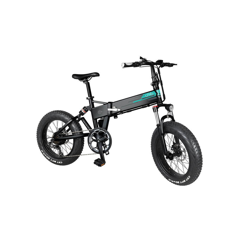 FIIDO M1 Folding Electric Bike 20 Inch Fat Tires 250W Motor 7 Speeds Shift 12.5Ah Lithium Battery