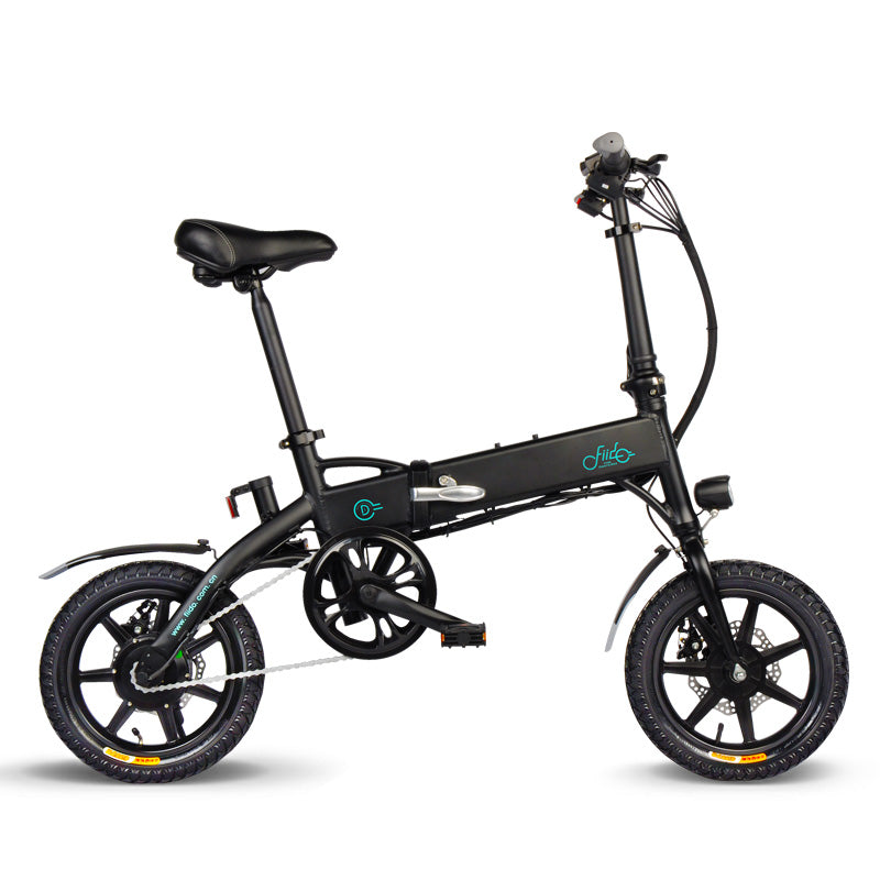 FIIDO D1 Folding Electric Bike 14 Inch Tires 250W Motor 11.6Ah Lithium Battery