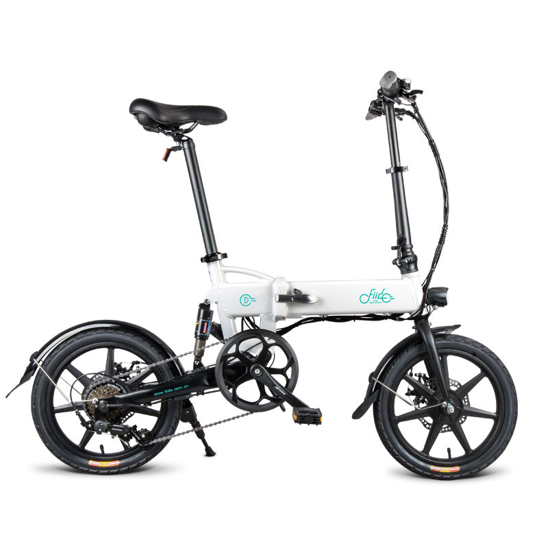 FIIDO D2S Folding Electric Bike 16 Inch Tires 250W Motor 6 Speeds Shift 7.8Ah Lithium Battery