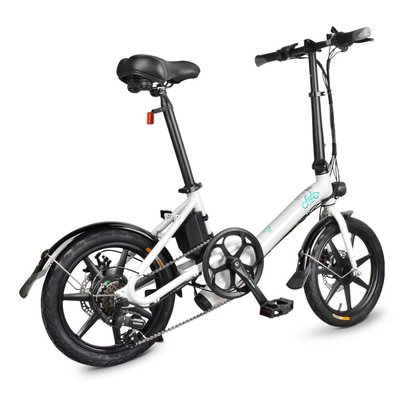 FIIDO D3S Folding Electric Bike 16 Inch Tires 250W Motor 6 Speeds Shift 7.8Ah Lithium Battery
