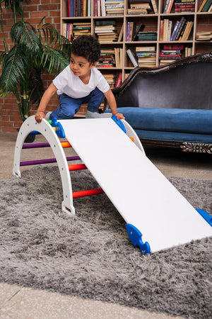 Children's furniture  Pikler Arch Pikler ramp  Color :  White + Rainbow