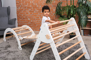 Montessori furniture Baby gym Gym for kids Wooden climb toy Wood play gym Natural toy Waldorf furniture New mom gift Climbing gym