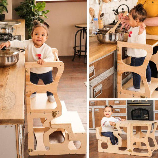 Helper tower for Kitchen Bathroom Step Stool with Neckline