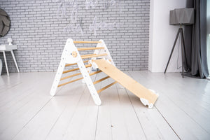 Montessori gym with 3 Ramps Triangle and Arch Standard Size