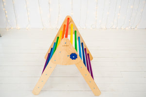 Montessori  SET OF 4 ITEMS: 2 RAMPS+ 1 TRIANGLE+ 1 ARCH STANDARD SIZE