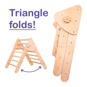 Save 2 hours for yourself with Montessori Set of 4 items: 1Ramp+1 Triangle+1 Arch+1 Learning chair
