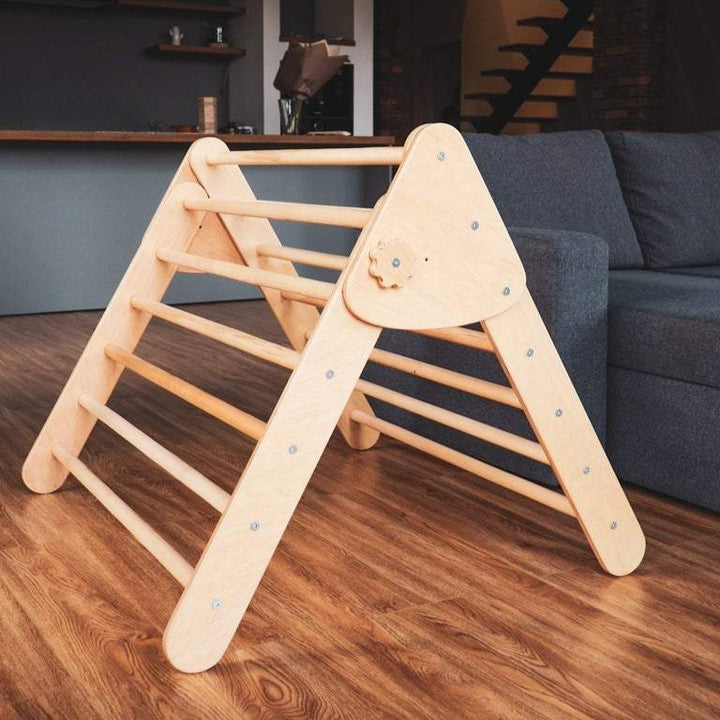 Children's furniture Pikler Triangle inside.   Color:  Naturally wood