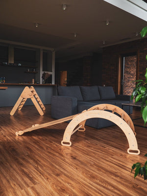 Children's furniture Pikler Arch, Pikler ramp and Pikler Triangle. Color:  Naturally wood