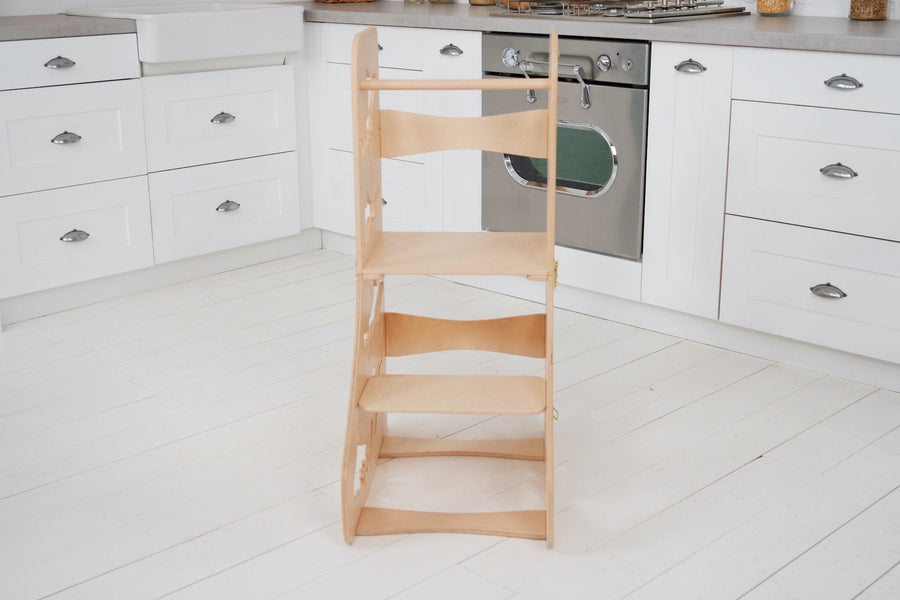 Learning stool The learning tower. DIMENSIONS of  Transformer  Kitchen tower   Height: 90 cm/35 inch Width: 50 cm/19.68 inch Length: 38 cm/14,96 inch