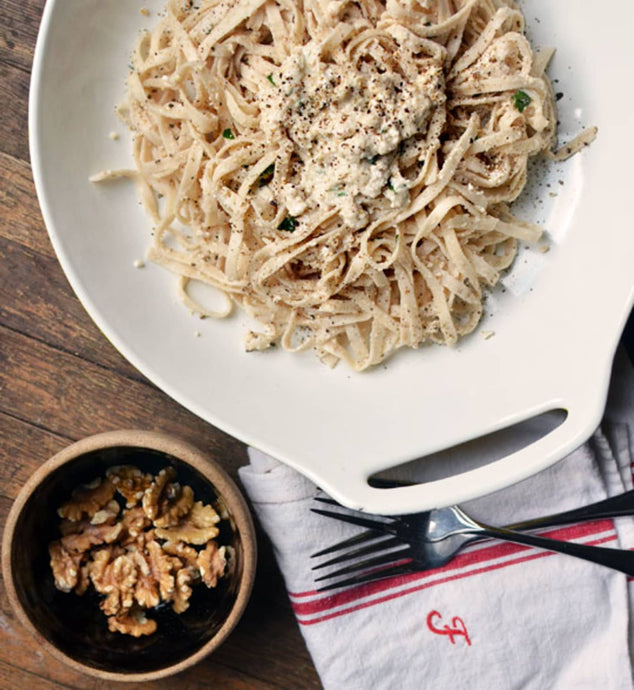 Linguine with Walnut Pesto