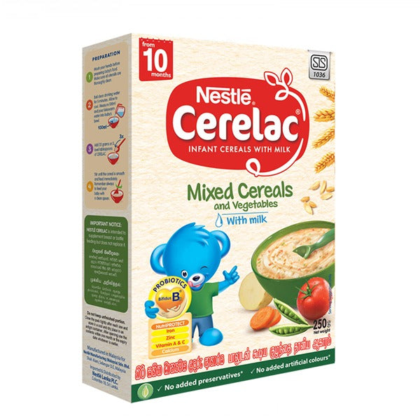 Nestlé Cerelac Mixed Cereals and Vegetables 250g
