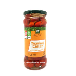 Tear Drop Chillies 370g - F&W