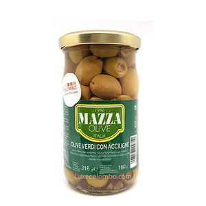 Green olives with anchovies - Mazza 314g