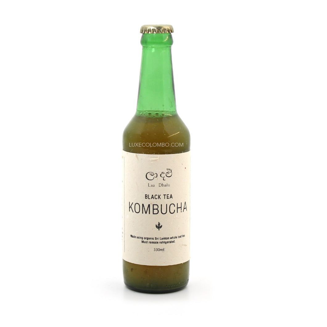 Black Tea Kombucha 330ml - La Dhalu