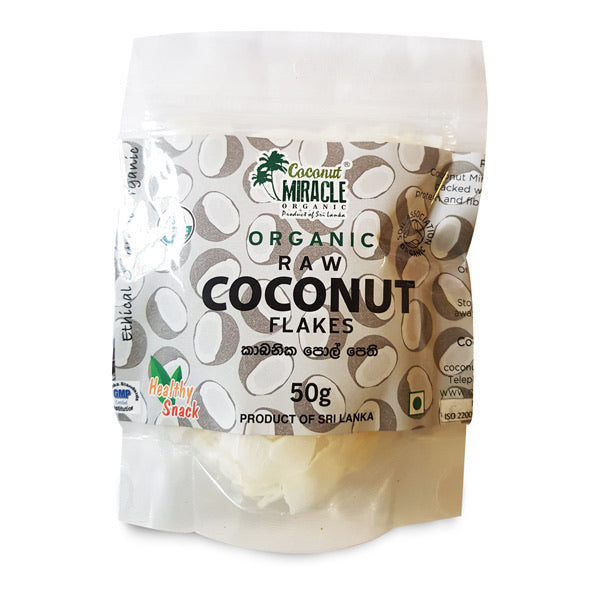 Organic Coconut  Flakes 50g