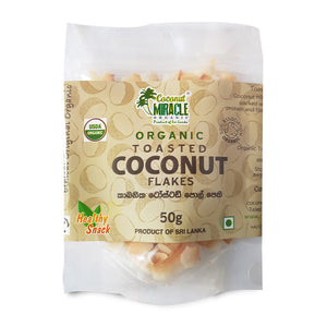 Organic Coconut Toasted Flakes 50g
