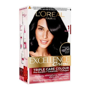 L'Oreal Excellence Creme Permanent Hair Colour 1 BLACK