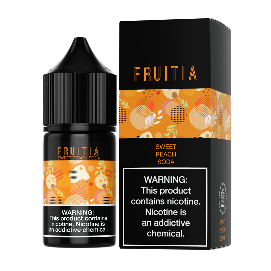 Fruitia Salt - Sweet Peach Soda - 30mL