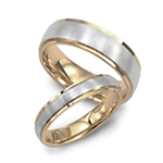 Men's Two-Tone Wedding Bands