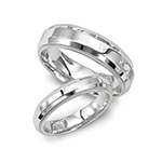 Men's White Gold Wedding Bands
